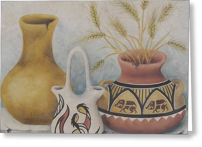 Indian Pots Greeting Card by Summer Celeste