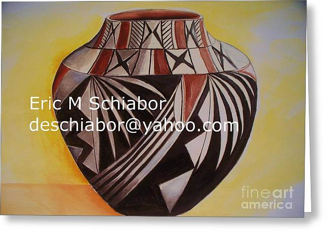 Indian Pottery Greeting Card by Eric  Schiabor