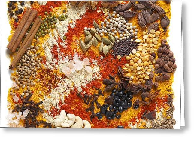 Indian Pulses And Spices Greeting Card