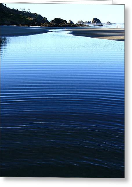 Indian Ripples Greeting Card by Steven A Bash