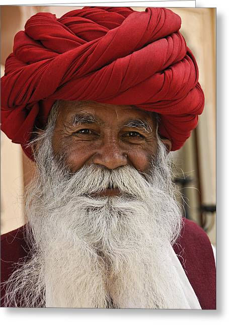 Indian Santa Claus? Greeting Card by Michele Burgess