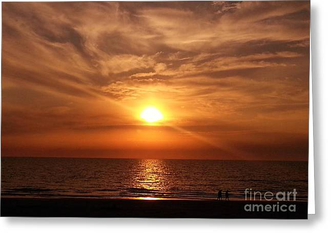 Indian Shores Sunset Greeting Card