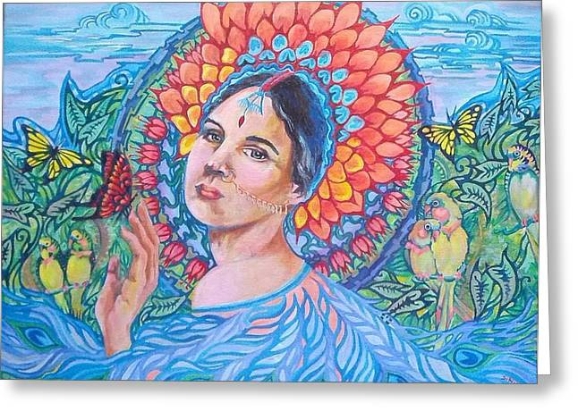 Greeting Card featuring the painting Indian Spring by Suzanne Silvir