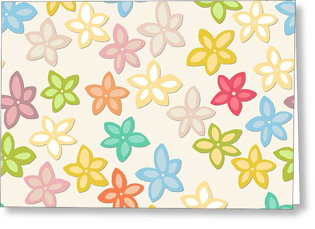 Indian Summer Flowers Greeting Card