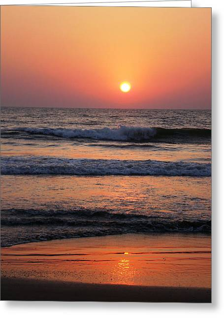 Indian Sunset Greeting Card by Ilse Maria Gibson