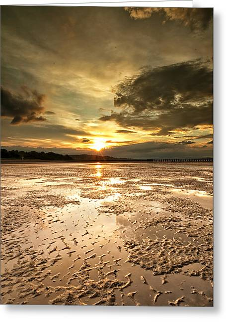 Indian Sunset Greeting Card
