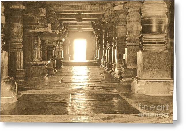 Greeting Card featuring the photograph Indian Temple by Mini Arora