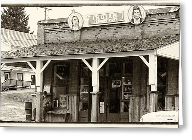 Indian Trading Post Virginia City Montana 02 Greeting Card by Thomas Woolworth