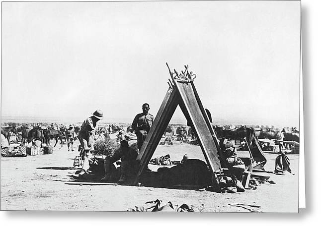 Indian Troops In Mesopotamia Greeting Card by Underwood Archives