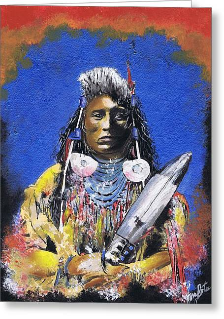 Indian Warrior 1 Greeting Card