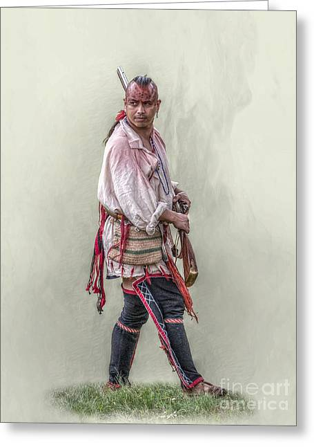 Indian Warrior Two Grand Encampment  Greeting Card