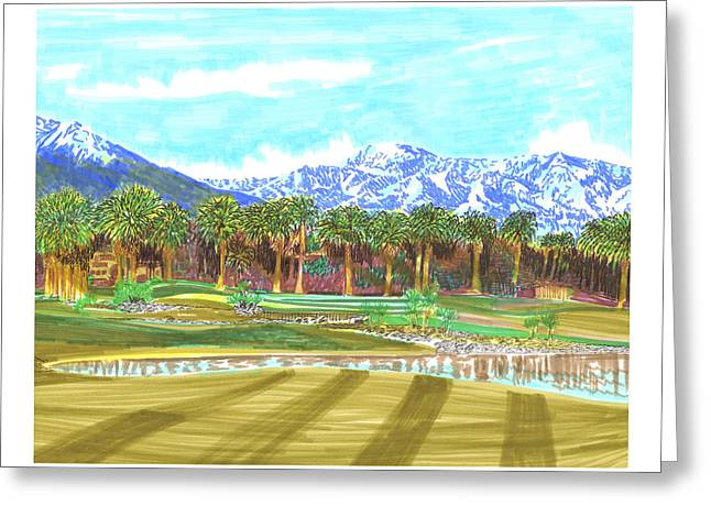 Indian Wells 18th Hole Greeting Card