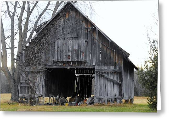 Indiana Barn 1 Greeting Card by Nelson Skinner