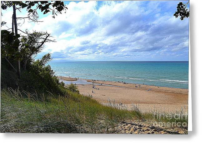Indiana Dunes Beachscape Greeting Card