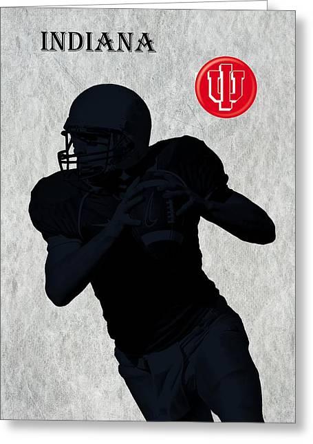 Indiana Football Greeting Card