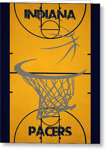 Indiana Pacers Court Greeting Card