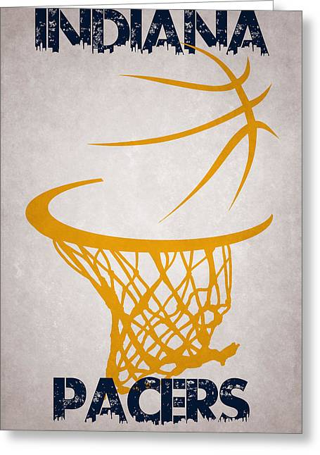 Indiana Pacers Hoop Greeting Card