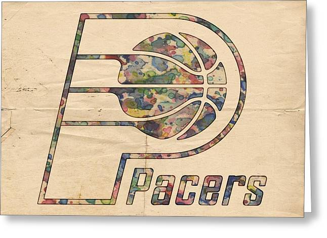 Indiana Pacers Poster Art Greeting Card by Florian Rodarte