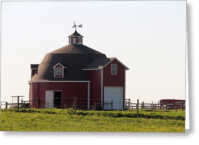 Indiana Round Barn Greeting Card by Nelson Skinner
