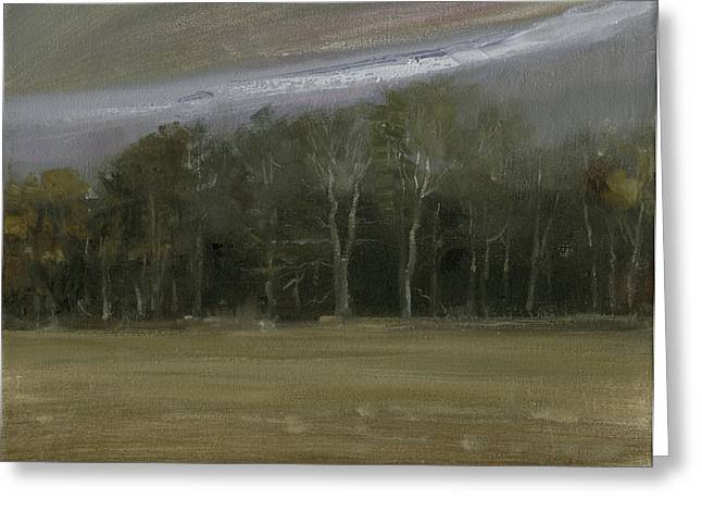 Greeting Card featuring the painting Indiana Sky by John Reynolds