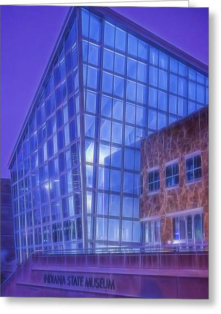 Indiana State Museum Indianapolis Indiana Glowing Greeting Card