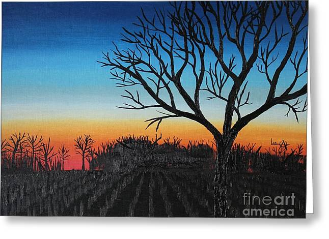 Indiana Sunset Greeting Card by Lee Alexander