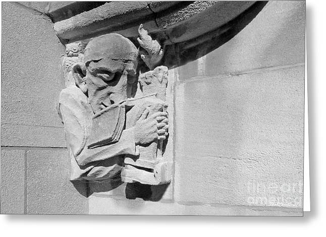 Indiana University - Memorial Hall Detail Greeting Card by University Icons