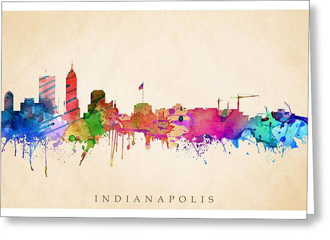 Indianapolis Cityscape Greeting Card
