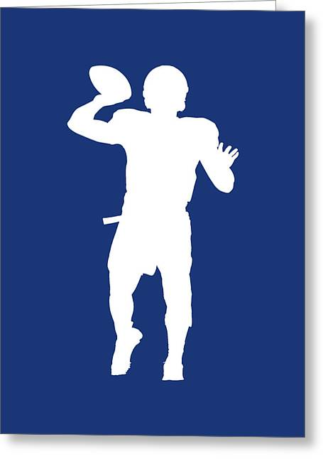 Indianapolis Colts Andrew Luck Greeting Card by Joe Hamilton