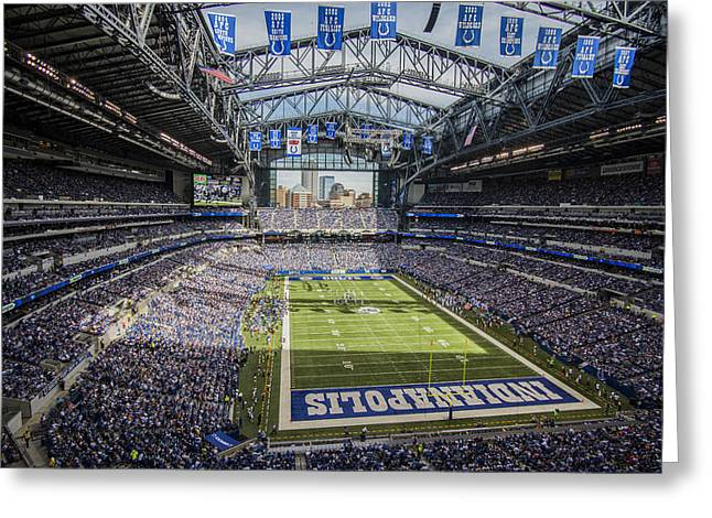 Indianapolis Colts Lucas Oil Stadium 3143 Greeting Card