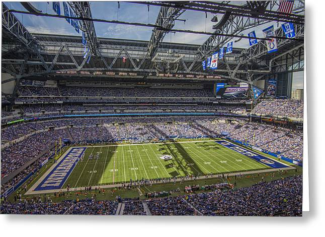 Indianapolis Colts Lucas Oil Stadium 3172 Greeting Card by David Haskett