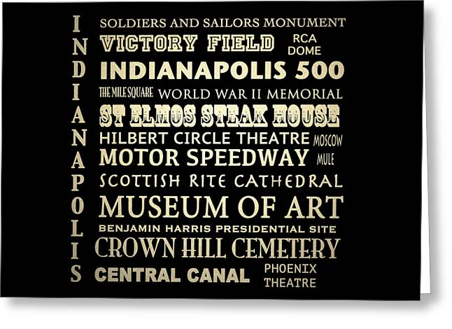 Indianapolis Famous Landmarks Greeting Card