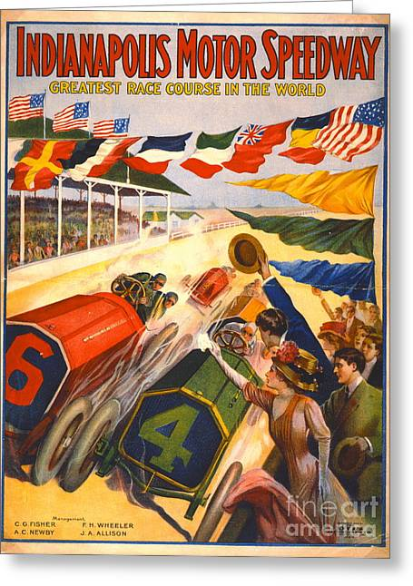 Indianapolis Motor Speedway 1909 Greeting Card by Padre Art