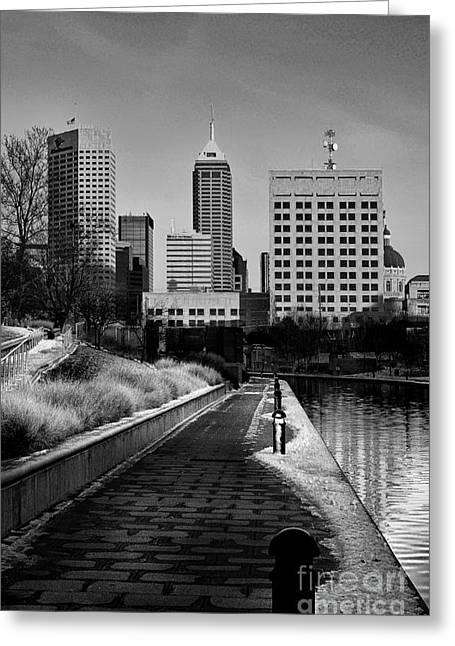 Indianapolis Skyline 21 Greeting Card by David Haskett