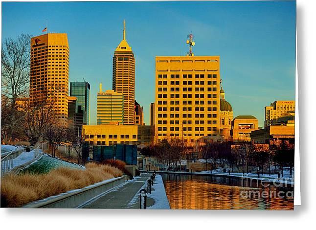 Indianapolis Skyline Dynamic Greeting Card