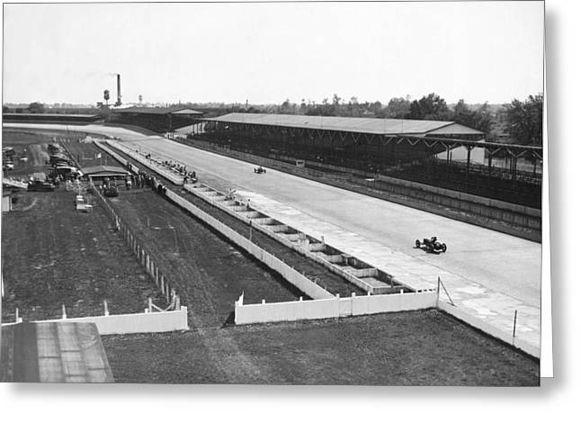 Indianapolis Speedway Trials Greeting Card
