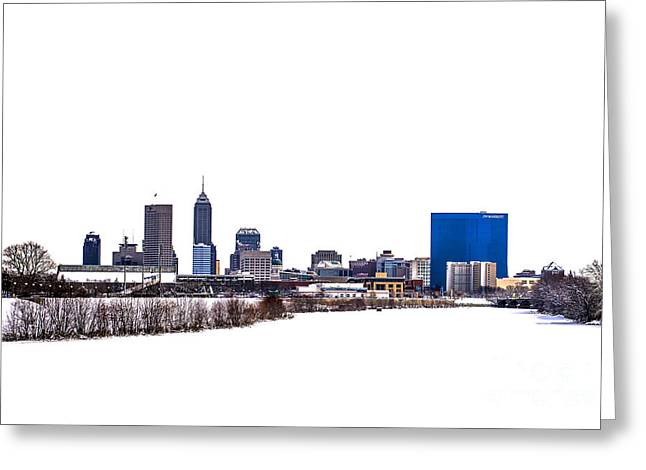 Indianapolis White Out Greeting Card by David Haskett