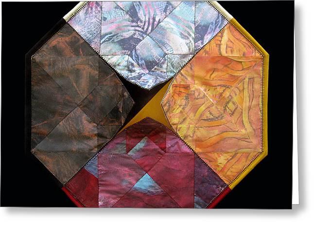 Tesseract Medicine Wheel  Greeting Card by Alyssa Hinton