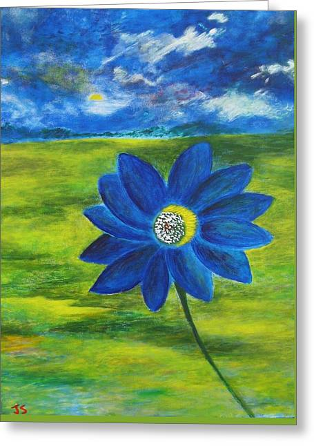Indigo Blue - Sunflower Greeting Card