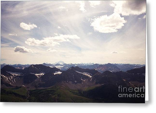 Greeting Card featuring the photograph Indigo Vista by Devin  Cogger