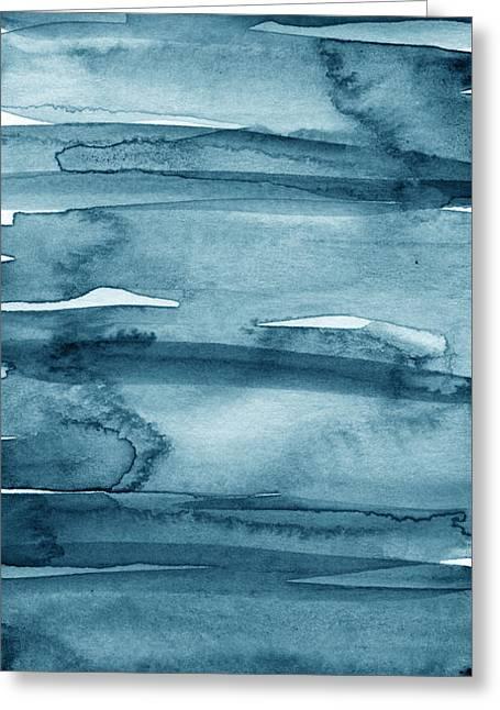 Indigo Water- Abstract Painting Greeting Card