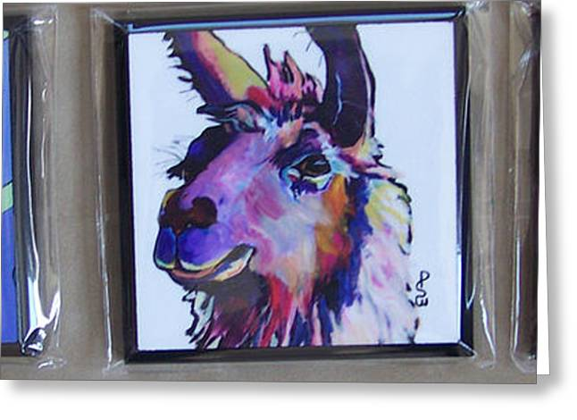 Individual Coasters Greeting Card by Pat Saunders-White