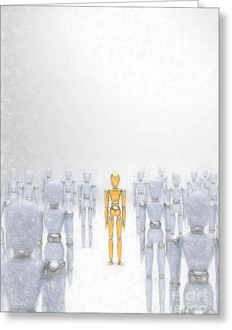Individuality 2 Greeting Card