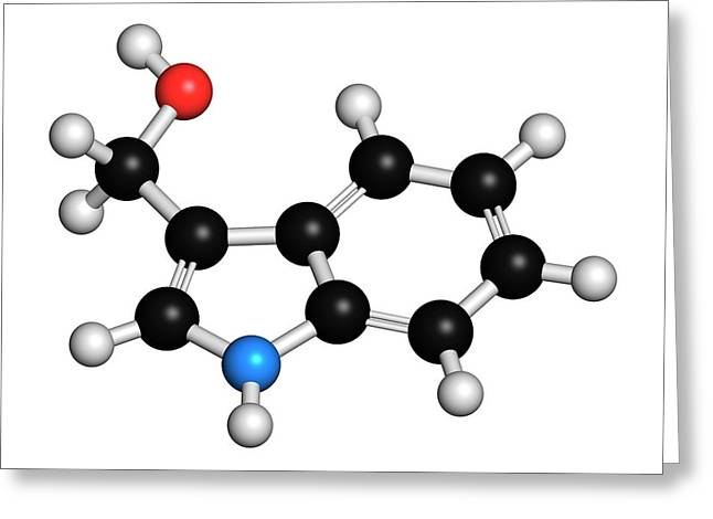 Indole-3-carbinole Molecule Greeting Card by Molekuul