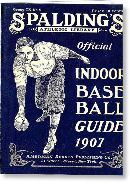 Indoor Base Ball Guide 1907 Greeting Card by American Sports Publishing