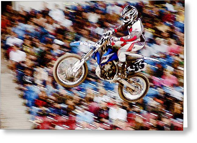Indoor Motocross Usa Greeting Card