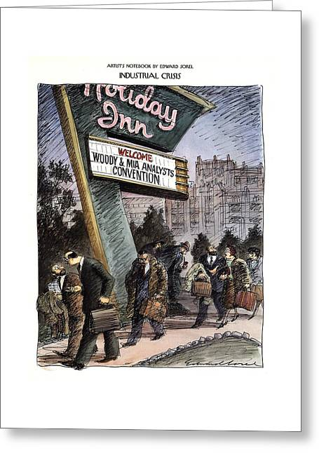 Industrial Crisis Greeting Card