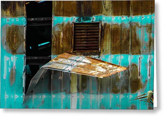 Industrial Decay Greeting Card