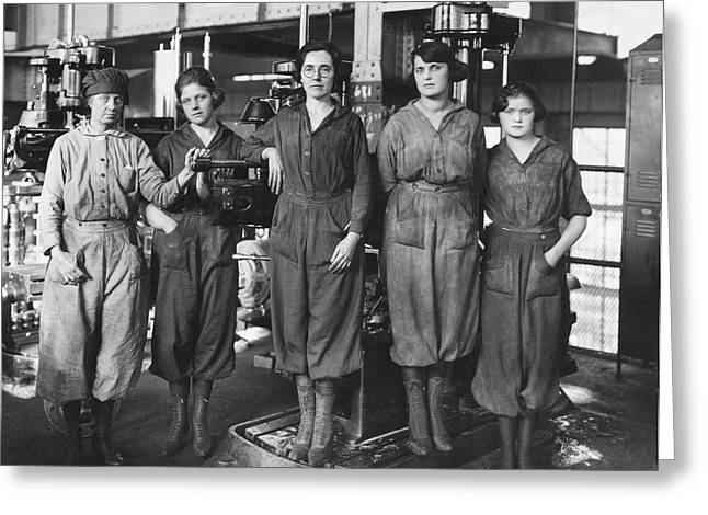 Industrial Factory Workers Greeting Card
