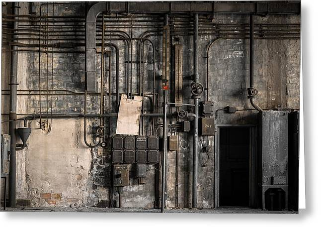 Industrial Fuse Boxes Greeting Card